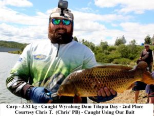 3.52 kg carp - Wyralong Dam - Courtesy Chris T - Fish Caught Using My Bait Worms