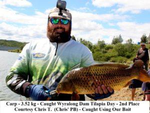 3.52 kg carp - Wyralong Dam - Courtesy Chris T - Fish Caught Using My Bait Worms